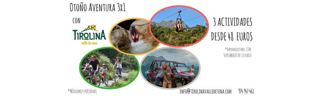 Disfruta del Valle de Tena en OTOÑO con las ofertas Multiaventura de la Tirolina!