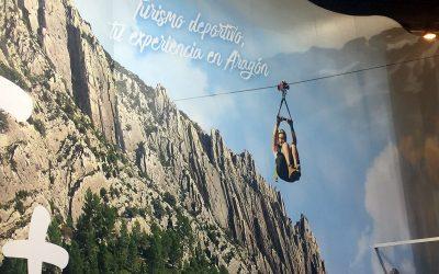 La Tirolina del Valle de Tena, protagonista del stand de Aragón en FITUR 2017