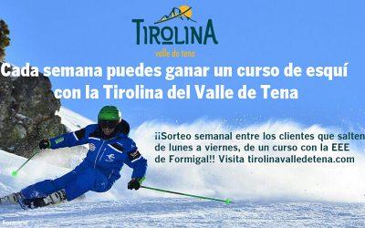 Consigue un curso de esquí con la Tirolina del Valle de Tena
