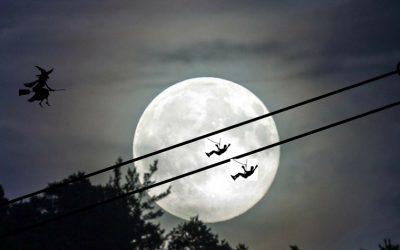 Vuela en tirolina bajo la luz de la super luna de marzo