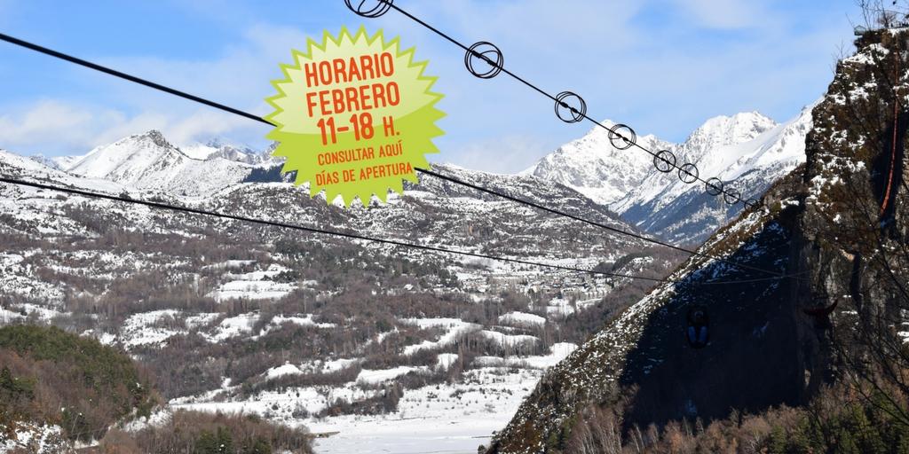 Fechas de apertura de la Tirolina en la temporada invierno-primavera
