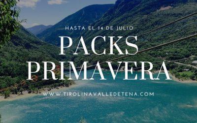 Vuelven los Packs de Primavera de Tirolina Valle de Tena