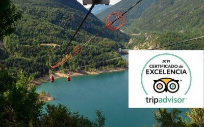 Tirolina Valle de Tena consigue el Certificado de Excelencia 2019