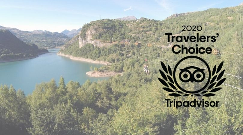 Tripadvisor otorga el premio Travellers' Choice 2020 a Tirolina Valle de Tena