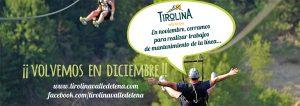 Tirolina Valle de Tena cierra durante el mes de noviembre para realizar trabajos de mantenimiento de la línea ¡¡Volvemos en diciembre!!