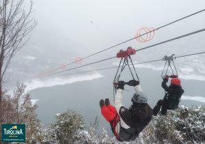 La Tirolina también en invierno... con sol o con nieve!!