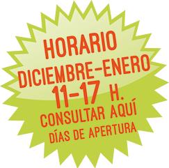 En diciembre y enero de 11 a 17 h. Consultar aquí fechas
