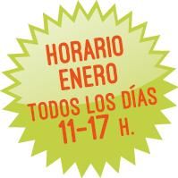 Horario enero: todos los días de 11 a 17