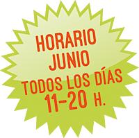 Horario Junio: de 11 a 20 h. todos los días