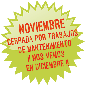 Cerramos durante el mes de noviembre para realizar trabajos de mantenimiento de la línea ¡¡Volvemos a vernos en diciembre!!