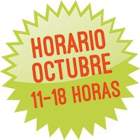 Horario octubre, de 11 a 18 h.