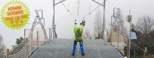 Ya estamos preparados para la #temporada de #invierno en la #Tirolina del #ValledeTena... ¡y hemos comenzado los #saltos con #nieve! ¿te animas? A partir del 3 de diciembre, todos los días. Más info en tirolinavalledetena.com/