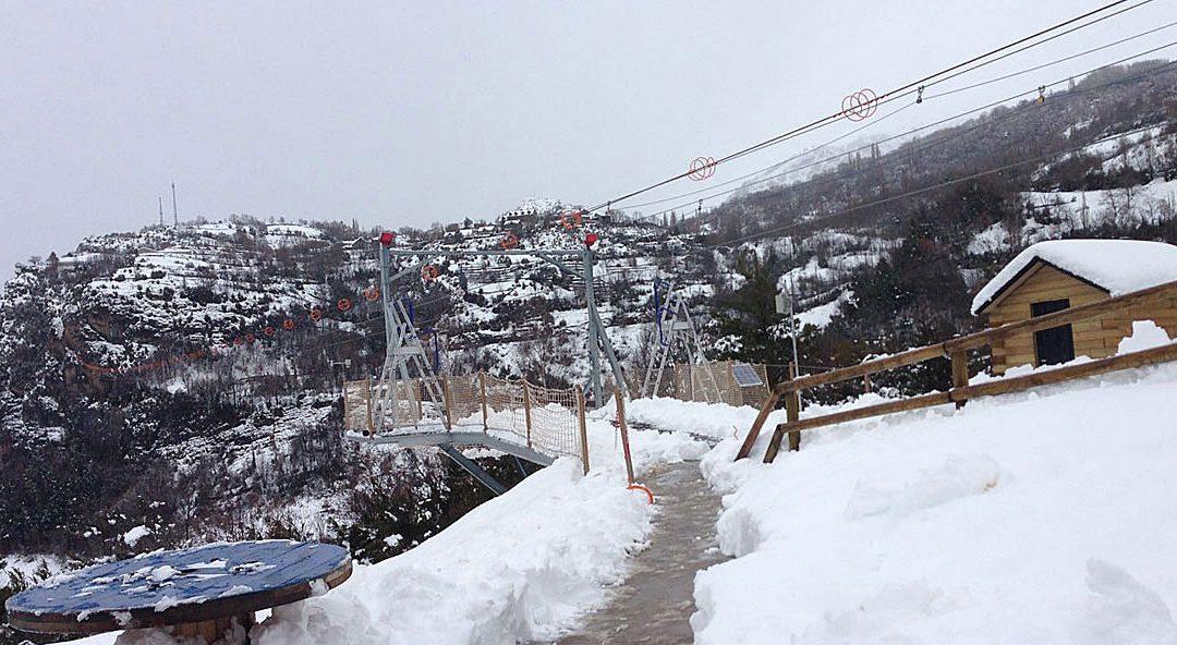 La nevada en la Tirolina del Valle de Tena