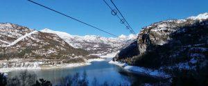 La Tirolina del Valle de Tena en invierno... ¿te animas?