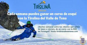 Durante estas semanas vamos a sortear un curso de esquí, con la Escuela Española de Esquí de Formigal, entre todos los clientes que hayan realizado un salto de lunes a viernes... ¿Te animas?