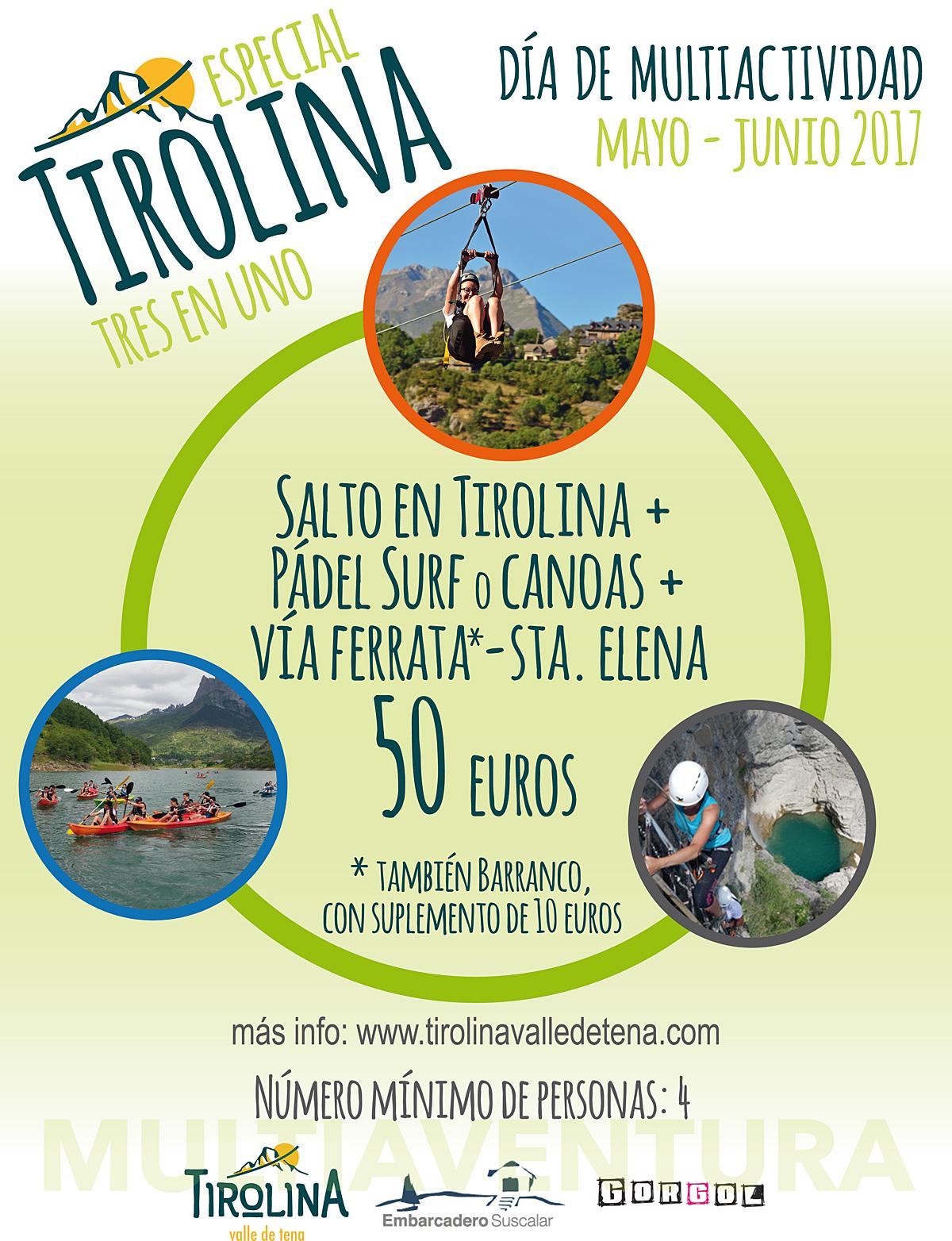 """""""Especial Tirolina 3en1"""": Multiactividad en el Valle de Tena"""