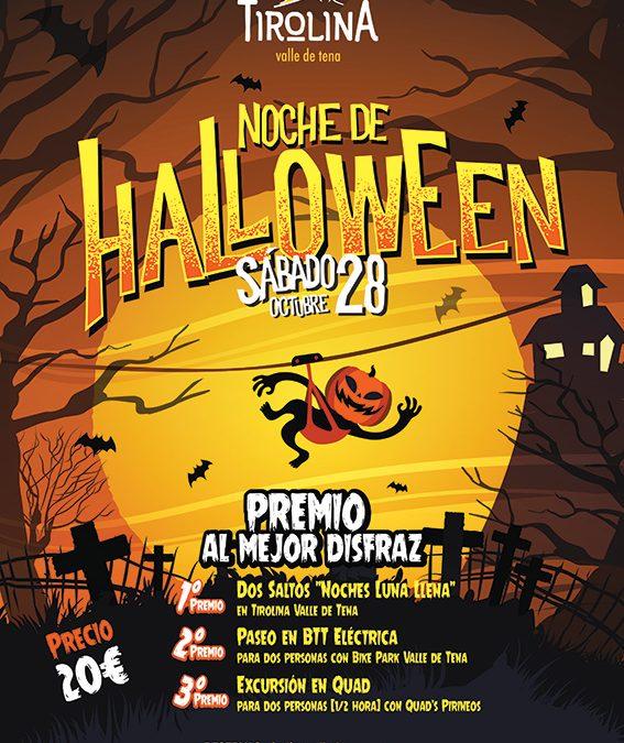 Vive un salto terrorífico con la noche Especial Halloween de Tirolina Valle de Tena