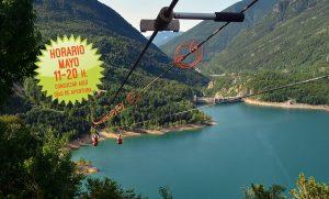 Tirolina Valle de Tena Horario mayo 2018: de 11 a 20 h, consultar fechas de apertura