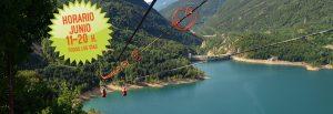 Tirolina Valle de Tena Horario junio 2018: de 11 a 20 h