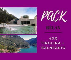 Pack Relax: Tirolina + Balneario Panticosa